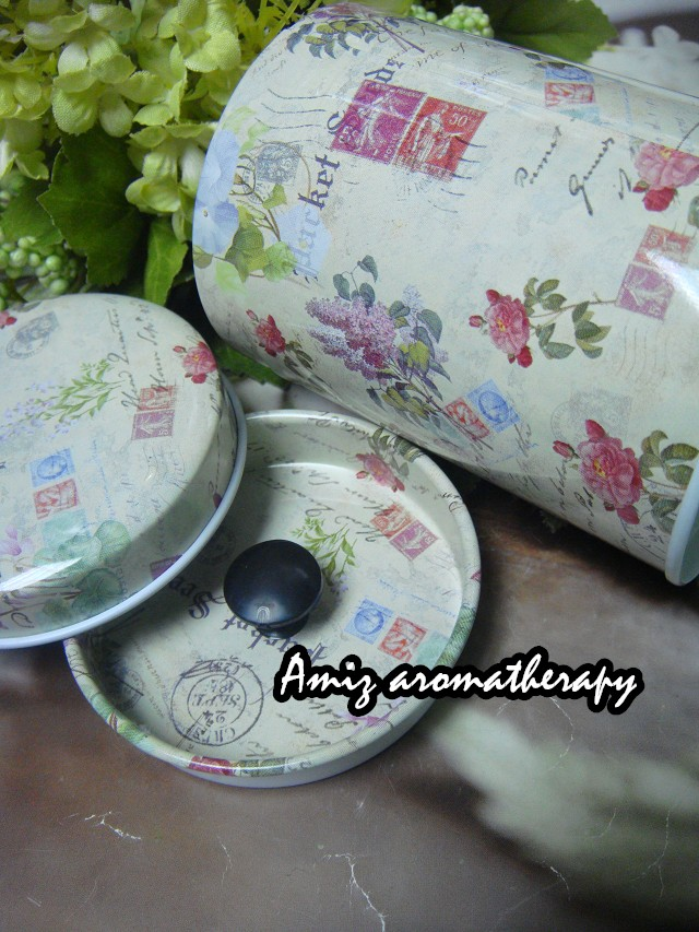歐陸式花茶罐|fancy tea tin in vintage style with rose