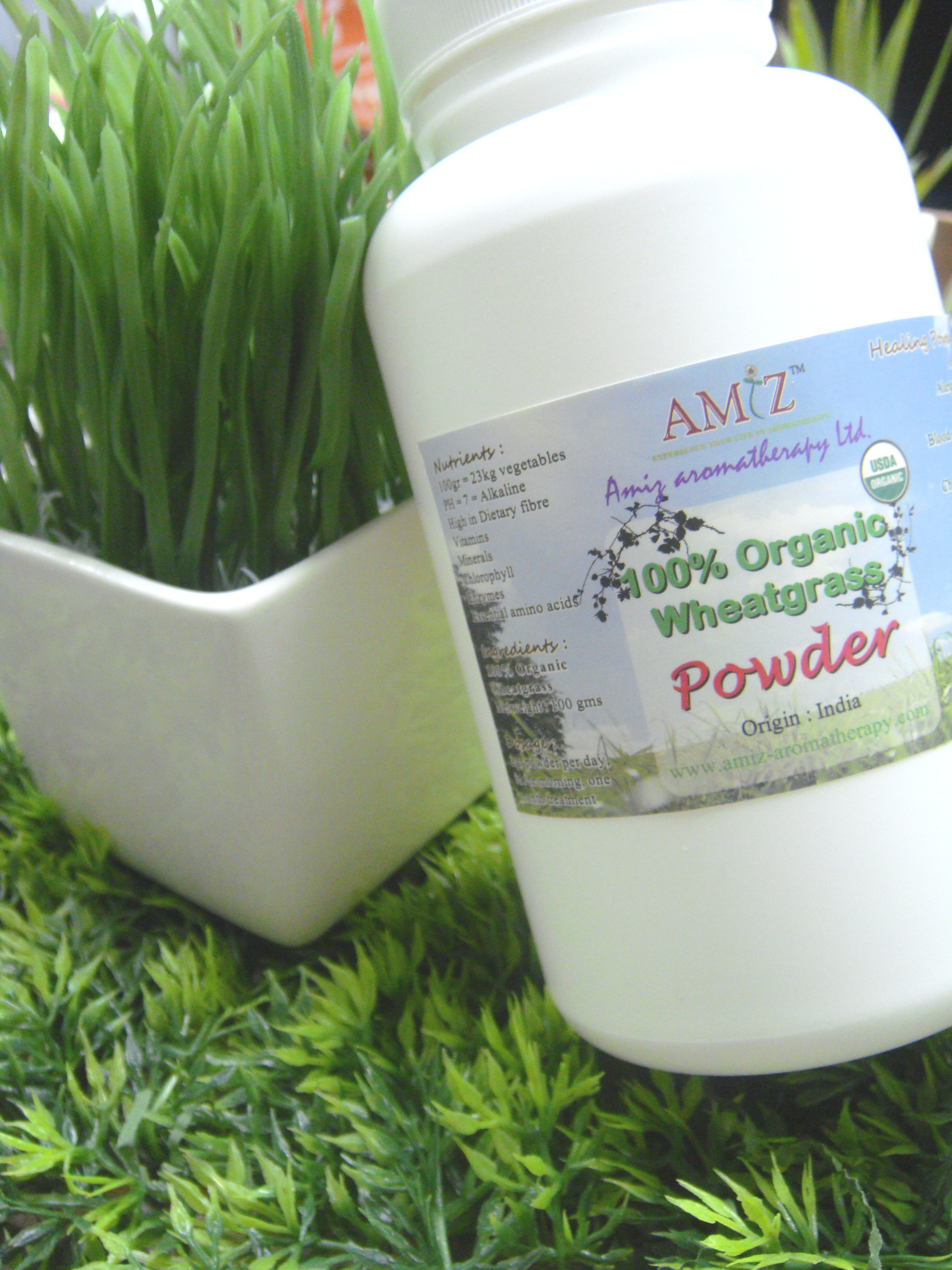 有機小麥草粉(1個月)|Organic wheatgrass powder (1 month)